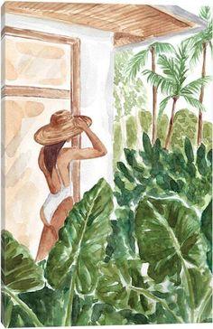 Canvas Wall Art by Sabina Fenn Painting Inspiration, Art Inspo, Canvas Wall Art, Diy Canvas, Cute Art, Painting & Drawing, Watercolor Paintings, Watercolors, Art Drawings