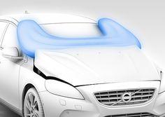 Uma novidade surge no Salão de Genebra, trata-se de um airbag do lado externo do carro para proteger pedestres em caso de atropelamento.