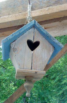 Birdhouse with heartshape entrance