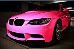 Pink BMW sports car