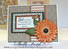 Really like this card - CTMH papers from Scrappin' Shell blog -