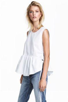 Blusa de algodón - Blanco - MUJER | H&M ES
