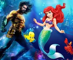 Aquaman VS Little Mermaid Face Swaps, Aquaman, The Little Mermaid, Disney Characters, Fictional Characters, Disney Princess, Image, Fantasy Characters, Disney Princesses