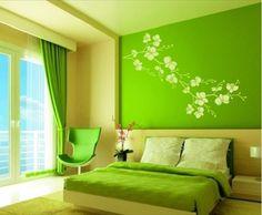 Bedroom Colour Schemes Green, Green Bedroom Paint, Green Bedroom Design, Green Bedroom Decor, Best Bedroom Colors, Blue Bedroom, Bedroom Wall, Bedroom Ideas, Trendy Bedroom