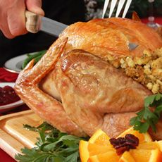 Orange Herb Roasted Turkey Recipe:The perfect hint of orange and herbs makes this melt-in-your-mouth turkey one that will melt their hearts. An ideal centerpiece for any holiday meal.
