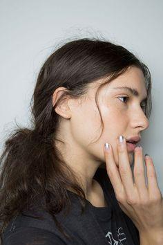 Metallic French Manicure