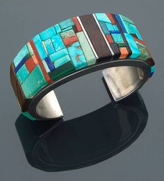 "Charles Loloma, Hopi, Mosaic Bracelet. For the artist biography, see ""American Indian Jewelry III,"" by Gregory and Angie Schaaf"