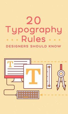 May 2018 - 20 Typography Rules Every Designer Should Know ~~ Typography is one of the most important and gratifying components of graphic design. Regardless of how experienced a designer you've become… Font Design, Graphic Design Tools, Graphisches Design, Graphic Design Tutorials, Graphic Design Typography, Branding Design, Japanese Typography, 3d Typography, Identity Branding