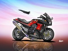 Street Fighter Motorcycle, Bsa Motorcycle, Motocross Bikes, Moto Bike, Motorcycle Design, Sport Bikes, Suzuki Bikes, Kawasaki Motorcycles, Stunt Bike