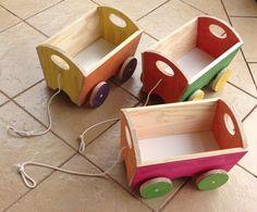 Carrinho de madeira Mais #toy