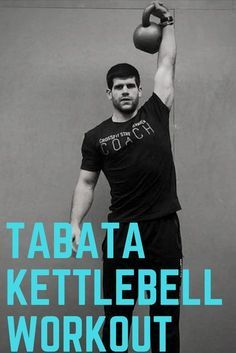 This tabata style workout is done with just a kettlebell. It has 3 different movements, but one of the movements takes up 2 of the rounds. It's 8 minutes long and can be done anywhere as long as you have a little bit of room! #kettlebell #homeworkout #kettlebellworkout #tabataworkout
