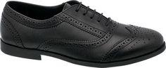 Graceland Girls Leather Brogue Lace Up Shoes Black   Deichmann