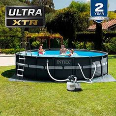 Intex x Ultra XTR Pool Set With Sand Filter Pump, Ladder, Ground Cloth & Pool Cover In our opinion, Intex is the gold standard in above ground swimming pools! This 16 ft x ult Intex Above Ground Pools, Best Above Ground Pool, Above Ground Swimming Pools, In Ground Pools, Intex Swimming Pool, Intex Pool, Outdoor Swimming Pool, Beats By, Best Pool Vacuum
