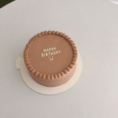 Pretty Birthday Cakes, Pretty Cakes, Cake Birthday, Funny Birthday Cakes, Birthday Cake Decorating, Kreative Desserts, Simple Cake Designs, Simple Cakes, Simple Birthday Cake Designs