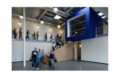 SOMT University by agNOVA architects, situated in a former warehouse in Amersfoort