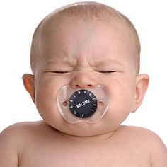 ThinkGeek :: Chill Baby Volume Pacifier  -  So glad it goes up to 11.