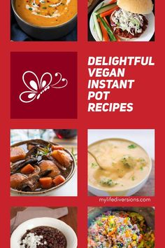 Enjoy 23 easy and delicious vegan recipes in your Instant Pot.Try a variety of hot soups (broccoli cheddar, carrot ginger, potato leak, mulligatawny, tomato, lentil and curry), portobello pot roast, cuban black beans, pasta, tasty curries and chilis,smoky lentil sloppy joes,  mexican quinoa, lentil risotto with butternut squash, spaghetti and meatballs, stir fry, maple ginger noodles, lo mein, and wild rice dishes. So much versatility with your instant pot. #crockpot #pressurecooker… Delicious Vegan Recipes, Tasty, Mulligatawny, Gluten Free Recipes For Breakfast, Carrot And Ginger, Broccoli Cheddar, Hot Soup, Spaghetti And Meatballs, Rice Dishes