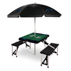 Carolina Panthers Picnic Table With Umbrella