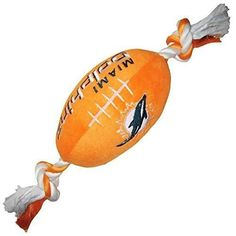 NFL Miami Dolphins Football Pet Plush Toy
