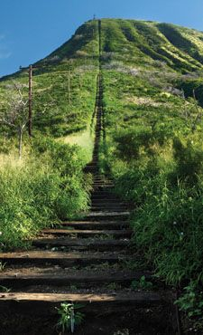 Koko Head stairs, Oahu -- Saw Steve and  Lori climbing these on Hawaii Five-0 and would love to try!