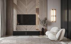 Indian project on Behance Interior Design Gallery, Modern Home Interior Design, Luxury Home Decor, Luxury Interior, Living Room Tv Unit Designs, Home Design Living Room, Tv In Bedroom, Master Bedroom Design, Wall Decor Design