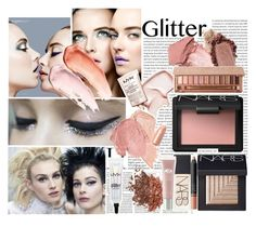 """""""All that glitters..."""" by aly-lynn ❤ liked on Polyvore featuring beauty, Chanel, NARS Cosmetics, Urban Decay, Origins, Winter, makeup and glitter"""