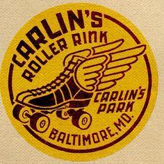 Roller Skate label from various rink studies. #typehunter #typeresearch #rollerrink #vintagelabel