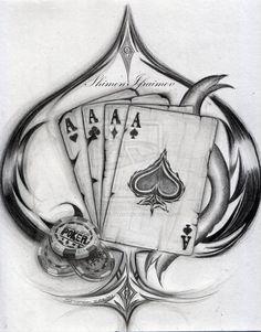 see more luck tattoo card tattoo pretty tattoos awesome tattoos henna tattoos drawing tattoos tatoos spade Kunst Tattoos, Bild Tattoos, Body Art Tattoos, New Tattoos, Sleeve Tattoos, Cool Tattoos, Awesome Tattoos, Poker Tattoos, Henna Tattoos