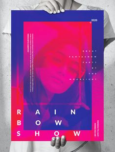 Show Dance Poster Template PSD - Sizes Included: A2, US Medium, US Tabloid, A3 Show Dance, Poster Templates, A3, Rainbow, Medium, Party, Rainbows, Rain Bow, Fiesta Party