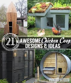 Chicken coop designs and ideas help you decide which DIY chicken coop fits you best. A good homesteader knows you need your own chicken coop to house all those fresh eggs and raise those little chi… A Frame Chicken Coop, Urban Chicken Coop, Cheap Chicken Coops, Chicken Coop Pallets, Small Chicken Coops, Portable Chicken Coop, Backyard Chicken Coops, Chicken Coop Plans, Building A Chicken Coop