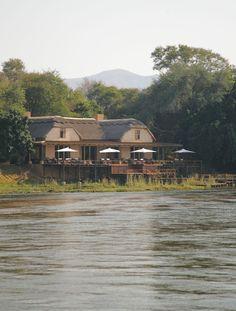 Royal Zambezi Lodge - view from the River