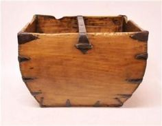 antique wood Chinese rice bucket - bought one of these yesterday in Farmington.