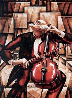 Rostropovich by Tahir Salahov