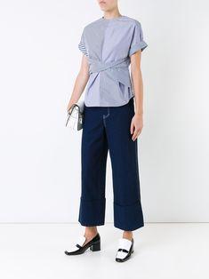Le Ciel Bleu striped twist T-shirt