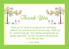 Baby Shower Thank You Card Template.Baby Shower Invitation Template With Text Thank You With . 13 Baby Shower Thank You Notes Sample Templates. Home Design Ideas Baby Shower Card Wording, Thank You Card Wording, Baby Shower Thank You Cards, Bridal Shower Cards, Baby Shower Favors, Baby Shower Gifts, Baby Gifts, Shower Baby, Girl Shower