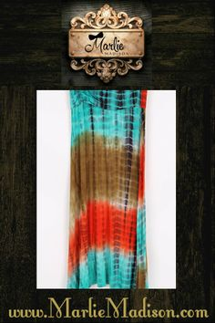 Turquoise and Tye Dye Maxi Skirt http://www.marliemadison.com/bottoms/skirts/turquoise-tye-dye-maxi-skirt