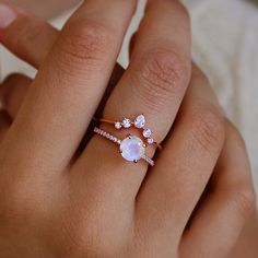 Rose Gold Moonstone Ring, Rainbow Moonstone Ring, Cute Jewelry, Jewelry Accessories, Women Jewelry, Simple Jewelry, Handmade Wire Jewelry, Cute Rings, Love Ring