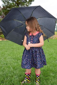 Girls Spring Dress with Peter Pan collar by MillyMacCreations on Etsy