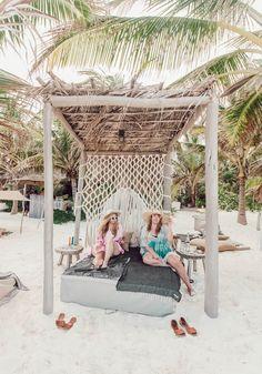 Beach Cabana, Tulum Beach, Hipster Beach, Round The World Trip, Mexico Travel, Mexico Vacation, Beach Bungalows, Sustainable Tourism, Beach Club