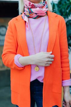 Tall Fashion Tips How to Style Bright Colors for Spring Colourful Outfits, Colorful Fashion, Trendy Fashion, Spring Fashion, Style Fashion, Preppy Winter, Bright Winter Outfits, Bright Spring, Mode Purple