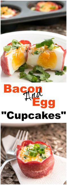 Bacon and Egg Cupcakes are the perfect marriage between two breakfast foods ever. A delicious piece of turkey bacon wrapped around eggs, cheese, and herbs all put together in this adorable little cupcake.