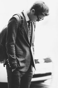 EXO | Chanyeol | Black & White | Glasses | Suit | Flawless