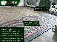 #decoracion Las diferente clases de #adoquines y la buena combinación expresan un diseño innovador a las nuevas edificaciones.