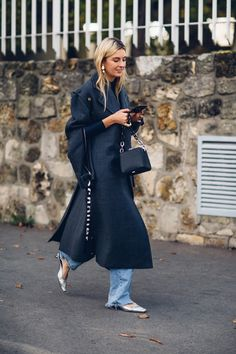 On the street at Paris Fashion Week.
