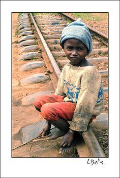 Walking on the railway - Andasibe, Toamasina - Madagascar