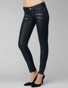 Paige Edgemont Ultra Skinny - Azure Silk Coating on shopstyle.com