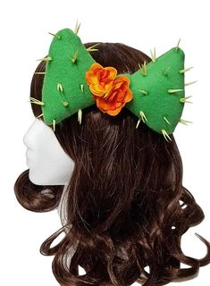 Tropical Rockabilly Skeleton Hand and Orchid Hair Bow