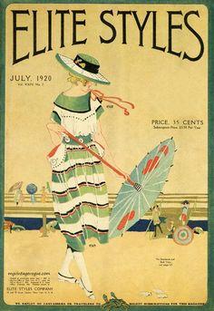 """Обложки и страницы американского журнала """"Elite Styles"""" 1920-х годов. - Рубиновый будуар"""