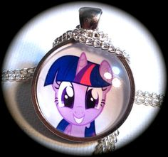 TWILIGHT SPARKLE . Glass My LITTLE Pony Pendant by girlgamegeek, $11.11