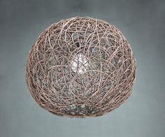 Brown Rattan Sphere Pendant Lighs-Ball Lamp Shade-Rattan Crafts-Rustic Lamps-Ceiling Lights-Decorative Lighting-Bar and Rrestaurant Lighting